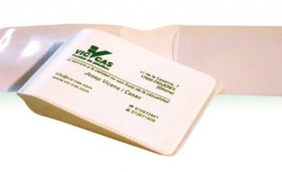 Cartera plegable tarjeta 19x6,5cm / 10x14cm