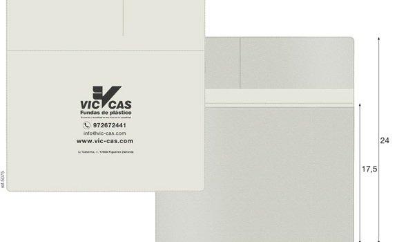 Recepta electrònica amb solapa butxaques 23x17,5cm